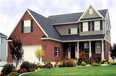 3-Bedroom, 2470 Sq Ft Country House Plan - 135-1240 - Front Exterior