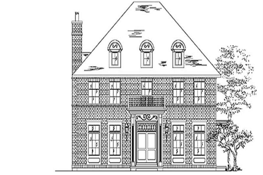 Home Plan Rendering of this 4-Bedroom,2943 Sq Ft Plan -135-1244