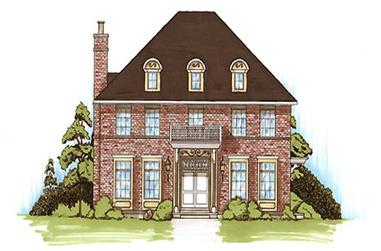 4-Bedroom, 2943 Sq Ft Colonial House Plan - 135-1244 - Front Exterior