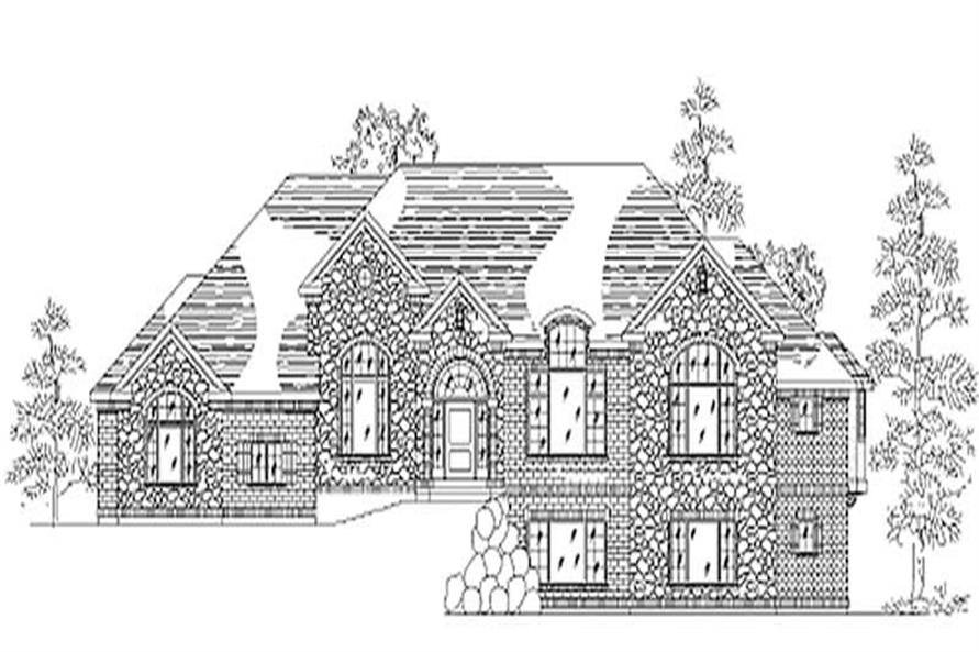 Home Plan Rendering of this 4-Bedroom,2546 Sq Ft Plan -135-1245