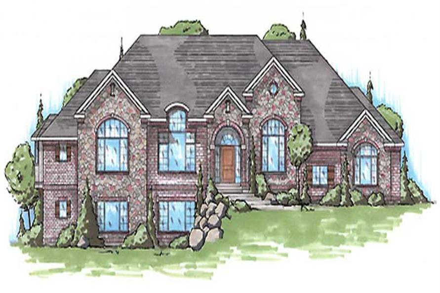 4-Bedroom, 2546 Sq Ft European Home Plan - 135-1245 - Main Exterior