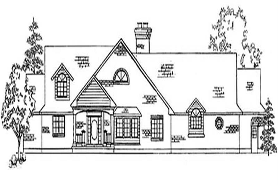 4-Bedroom, 3240 Sq Ft European House Plan - 135-1247 - Front Exterior