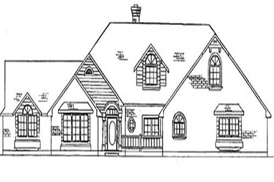 3-Bedroom, 3450 Sq Ft Country House Plan - 135-1250 - Front Exterior