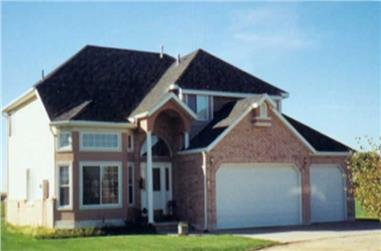 3-Bedroom, 2428 Sq Ft Country House Plan - 135-1252 - Front Exterior