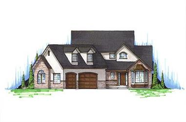 4-Bedroom, 2332 Sq Ft Cape Cod House Plan - 135-1253 - Front Exterior