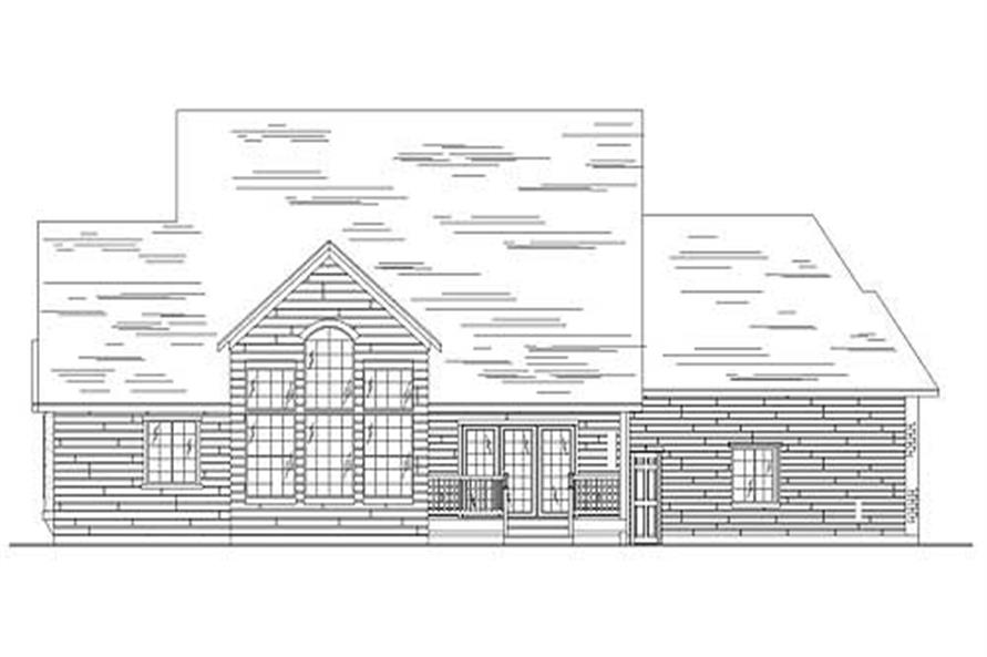 Home Plan Rear Elevation of this 4-Bedroom,2332 Sq Ft Plan -135-1253