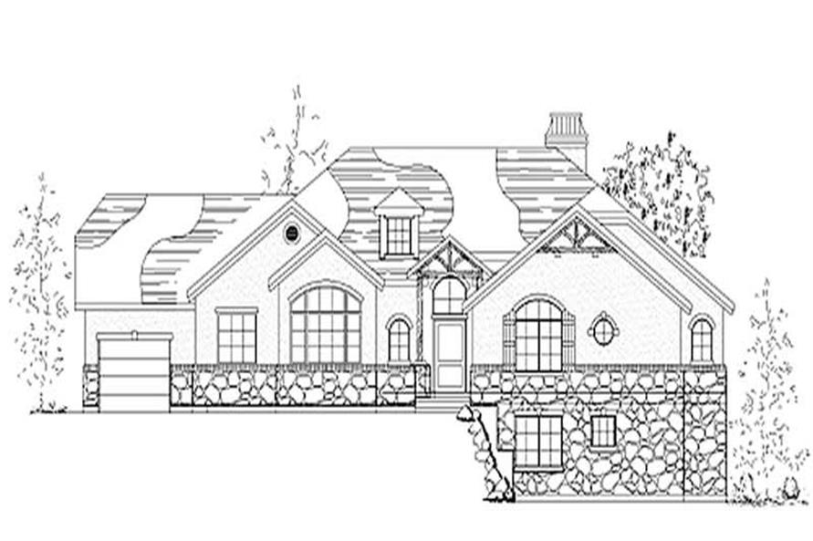 5-Bedroom, 2400 Sq Ft European Home Plan - 135-1257 - Main Exterior