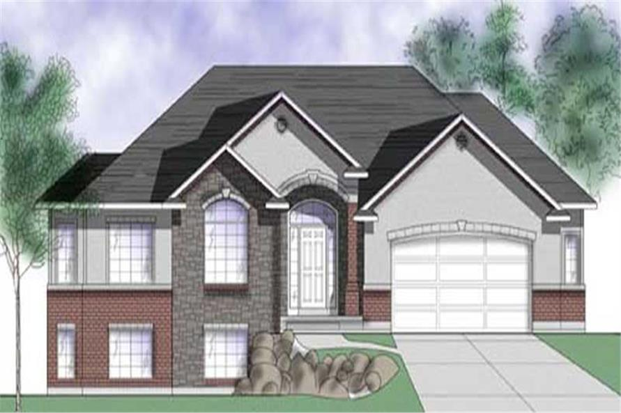 3-Bedroom, 1673 Sq Ft European House Plan - 135-1260 - Front Exterior