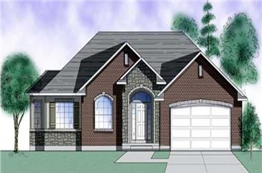 3-Bedroom, 1608 Sq Ft Ranch House Plan - 135-1265 - Front Exterior