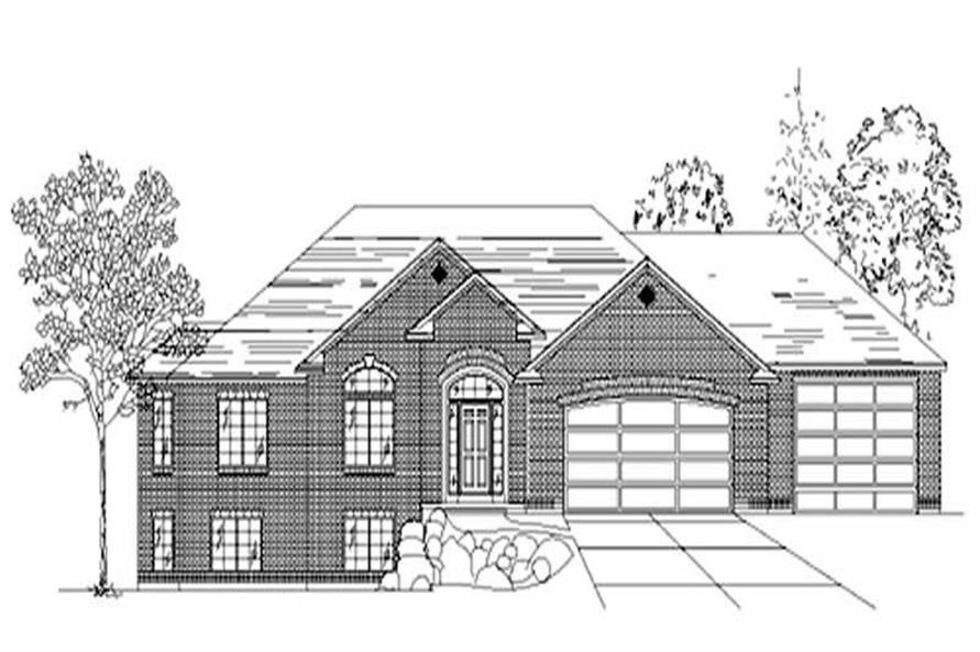 3-Bedroom, 1837 Sq Ft European House Plan - 135-1266 - Front Exterior