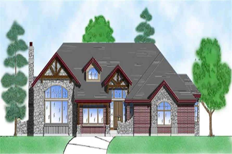 4-Bedroom, 2243 Sq Ft European Home Plan - 135-1273 - Main Exterior