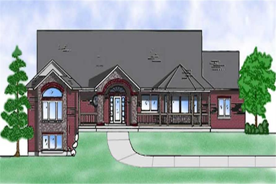 5-Bedroom, 2059 Sq Ft Farmhouse Home Plan - 135-1274 - Main Exterior