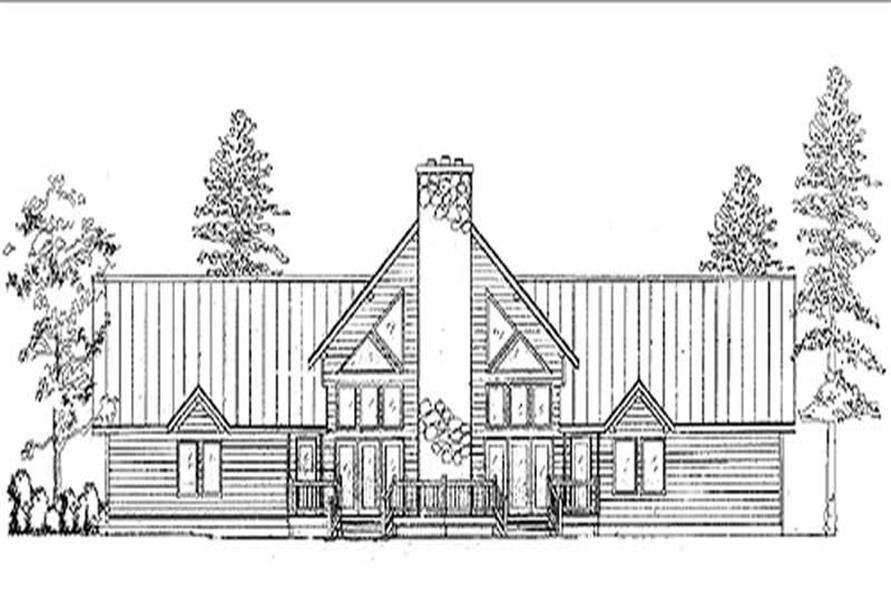1-Bedroom, 1860 Sq Ft Log Cabin House Plan - 135-1275 - Front Exterior