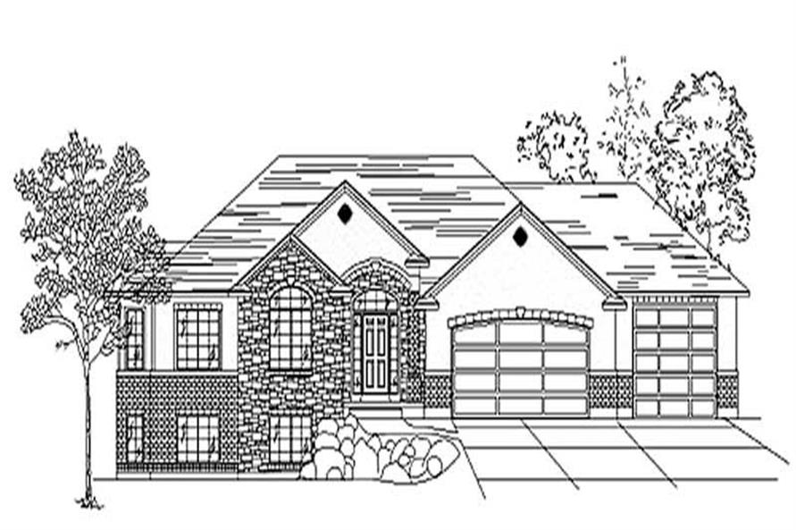 3-Bedroom, 1837 Sq Ft European House Plan - 135-1276 - Front Exterior