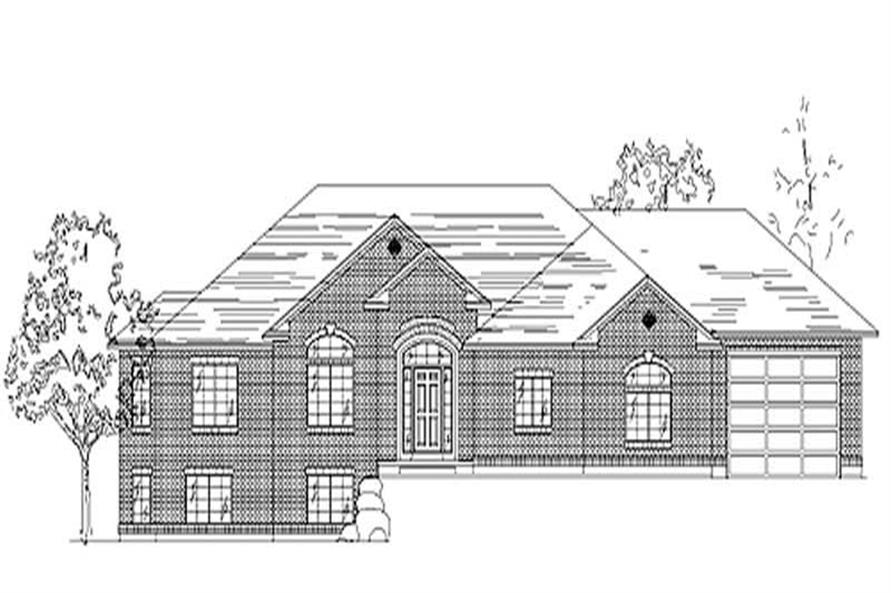 3-Bedroom, 1837 Sq Ft European House Plan - 135-1277 - Front Exterior