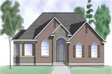 3-Bedroom, 1608 Sq Ft Ranch Home Plan - 135-1279 - Main Exterior