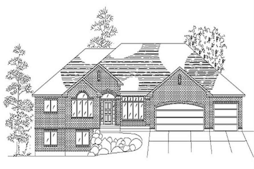 3-Bedroom, 2015 Sq Ft European Home Plan - 135-1282 - Main Exterior