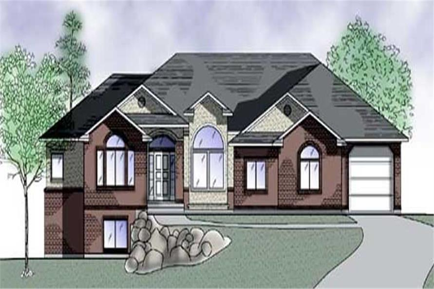 3-Bedroom, 2098 Sq Ft European Home Plan - 135-1287 - Main Exterior