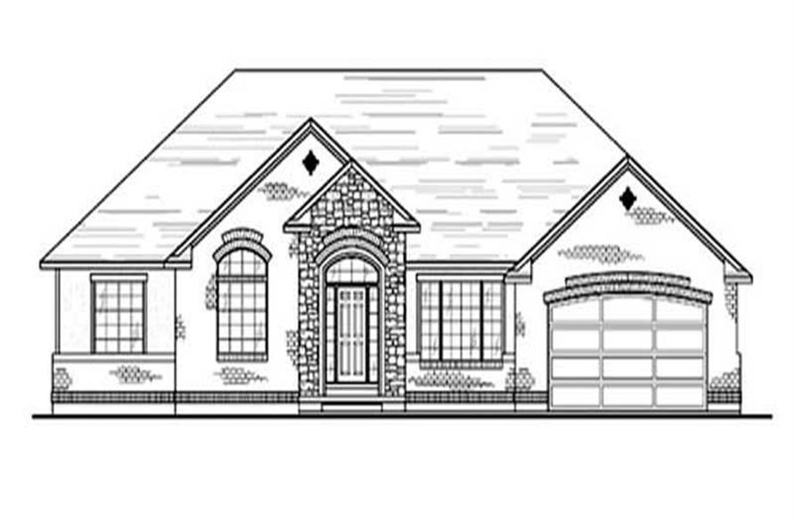 3-Bedroom, 2084 Sq Ft European Home Plan - 135-1289 - Main Exterior