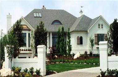 4-Bedroom, 3068 Sq Ft European House Plan - 135-1292 - Front Exterior