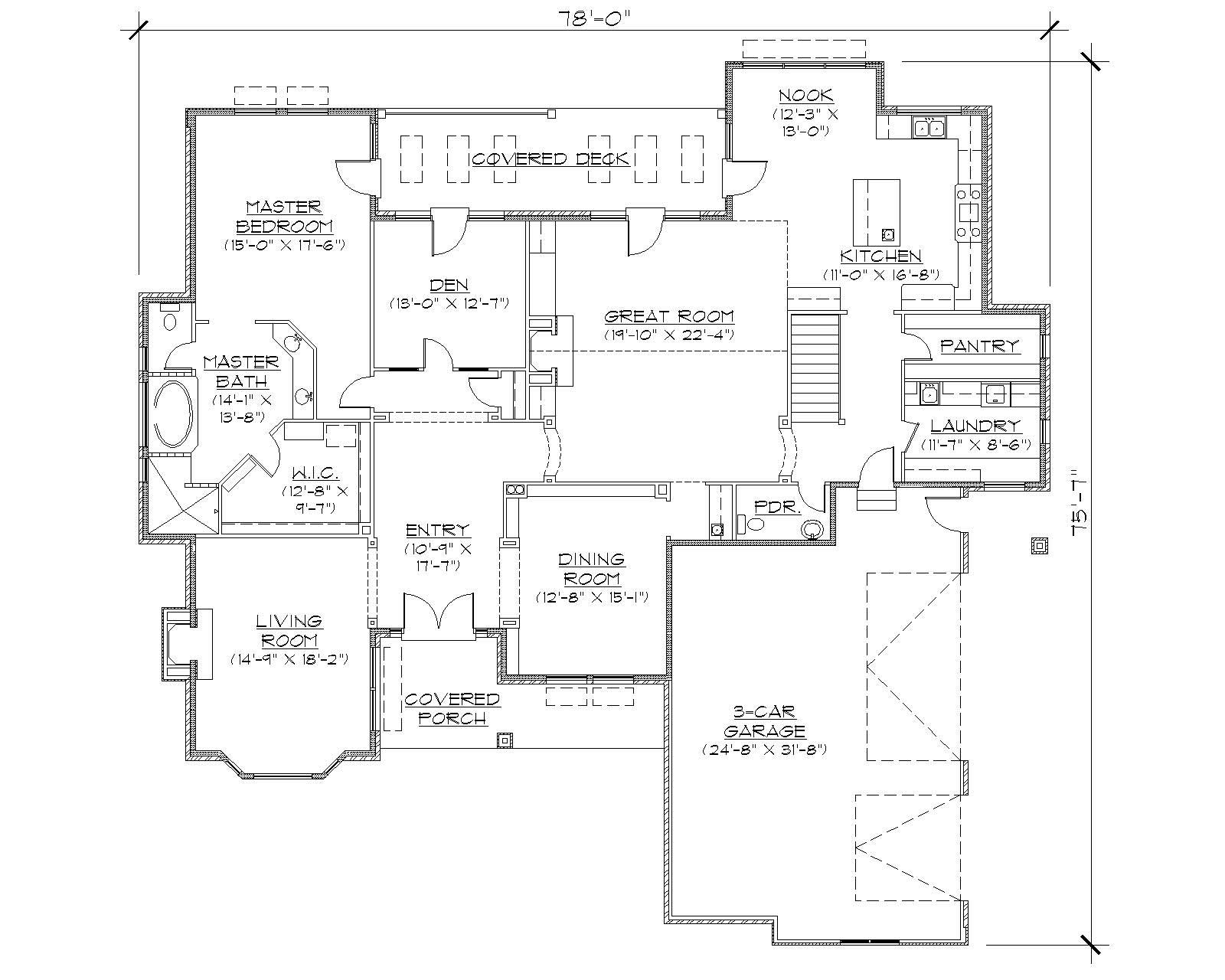 French European House Plans Home Design R3076 8165