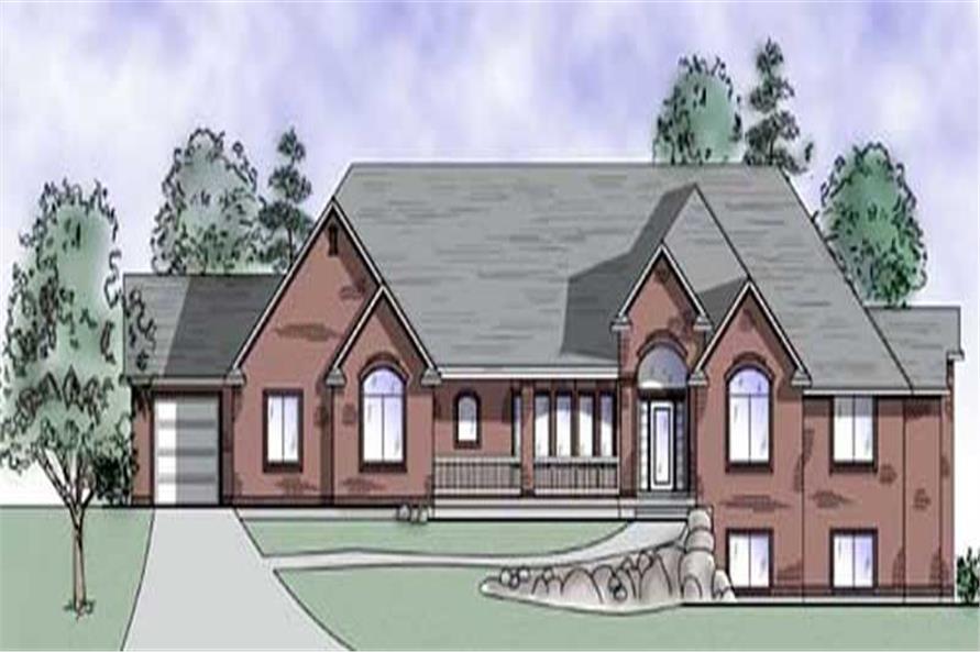 4-Bedroom, 2910 Sq Ft European House Plan - 135-1296 - Front Exterior