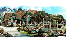 This image shows the beauty of this rustic Luxury House Plan.
