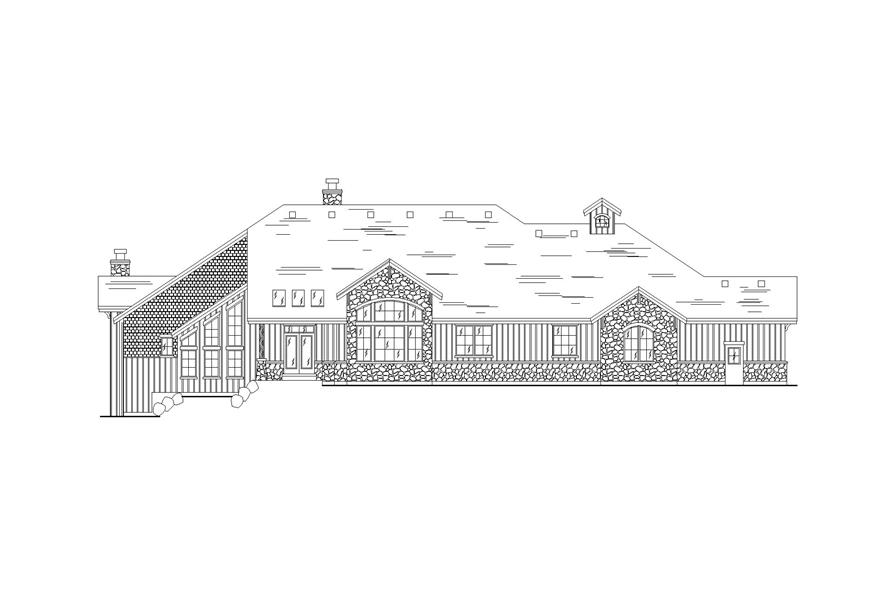 135-1297: Home Plan Rear Elevation