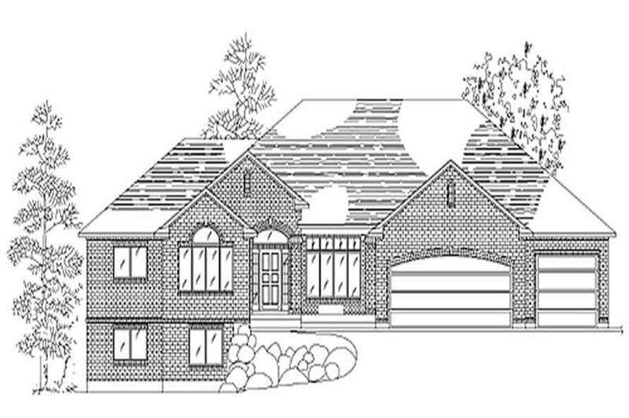 3-Bedroom, 2046 Sq Ft European Home Plan - 135-1301 - Main Exterior