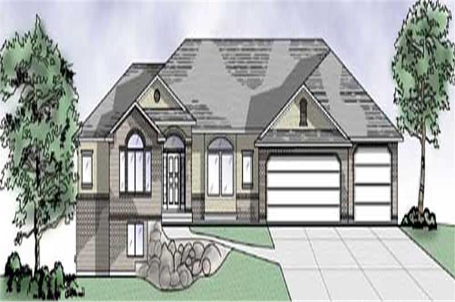 2-Bedroom, 2077 Sq Ft European Home Plan - 135-1302 - Main Exterior