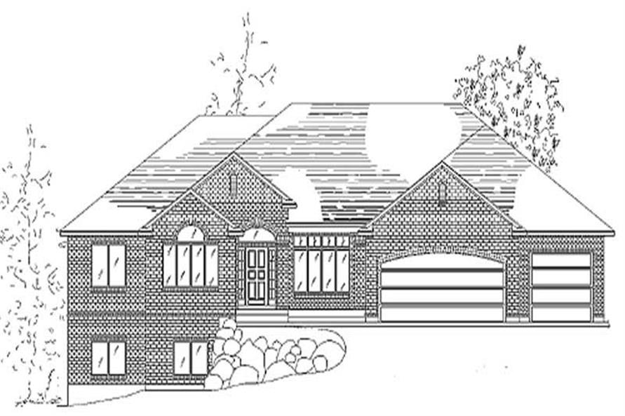 Home Plan Rendering of this 3-Bedroom,2223 Sq Ft Plan -135-1304