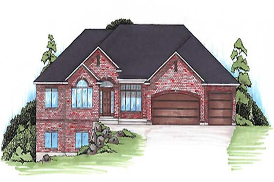 3-Bedroom, 2223 Sq Ft European Home Plan - 135-1304 - Main Exterior