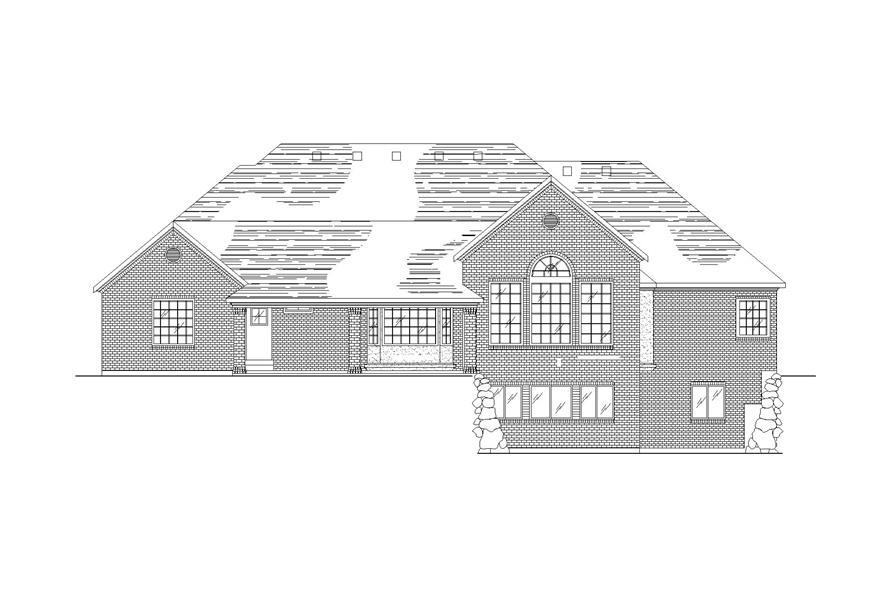 135-1305: Home Plan Rear Elevation