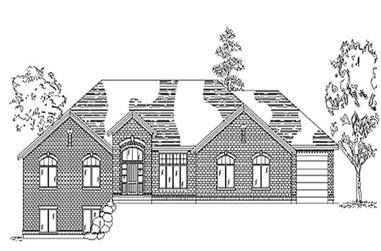 3-Bedroom, 2606 Sq Ft European Home Plan - 135-1306 - Main Exterior