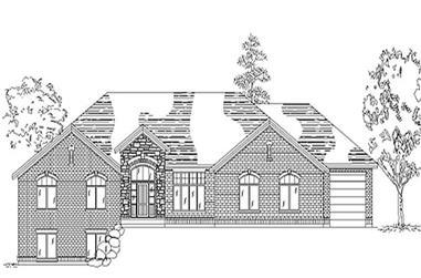 3-Bedroom, 2606 Sq Ft European Home Plan - 135-1307 - Main Exterior
