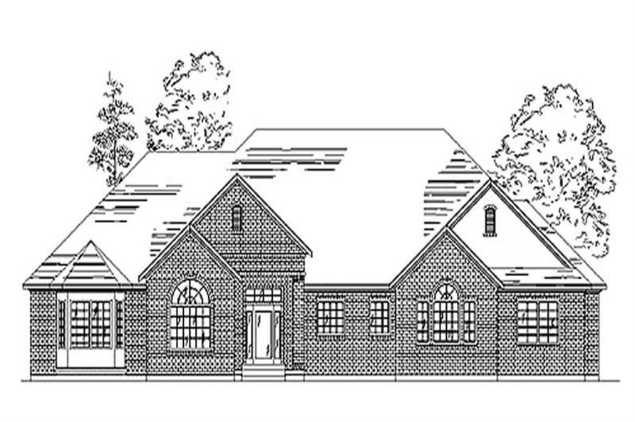 3-Bedroom, 2602 Sq Ft European Home Plan - 135-1308 - Main Exterior