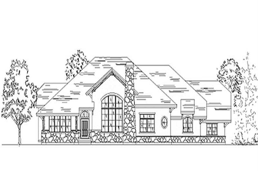 2-Bedroom, 2540 Sq Ft European Home Plan - 135-1312 - Main Exterior