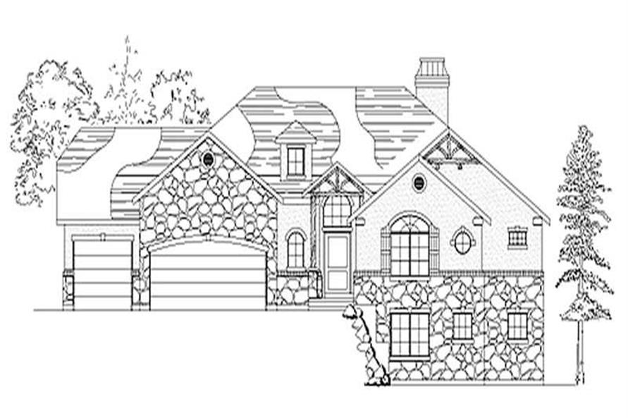 2-Bedroom, 2180 Sq Ft Ranch Home Plan - 135-1317 - Main Exterior