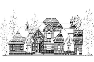 6-Bedroom, 4155 Sq Ft European House Plan - 135-1321 - Front Exterior
