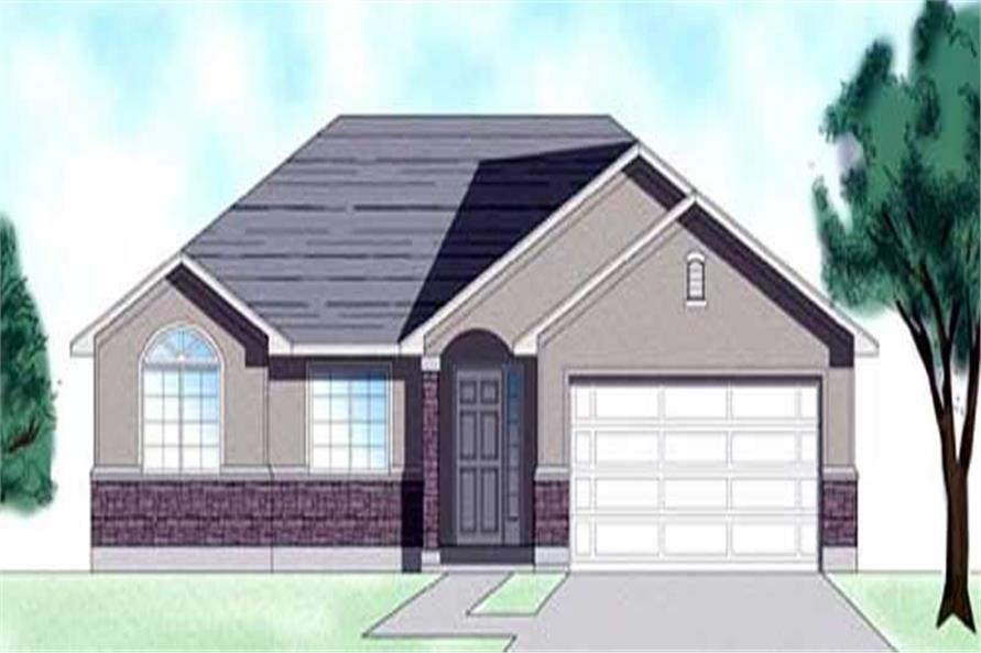 3-Bedroom, 1408 Sq Ft European Home Plan - 135-1325 - Main Exterior