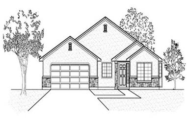 3-Bedroom, 1503 Sq Ft Ranch Home Plan - 135-1328 - Main Exterior
