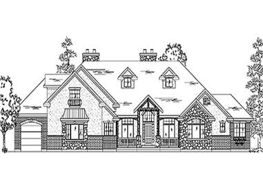 2-Bedroom, 4038 Sq Ft European Home Plan - 135-1329 - Main Exterior