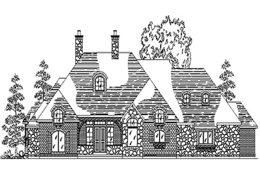 Home Plan Rendering of this 6-Bedroom,2852 Sq Ft Plan -135-1330