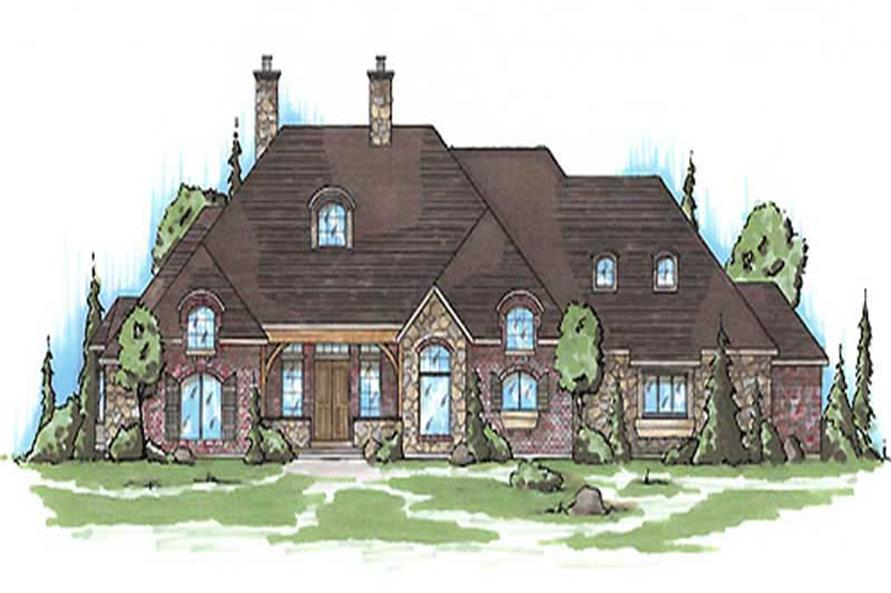 6-Bedroom, 2852 Sq Ft European House Plan - 135-1330 - Front Exterior