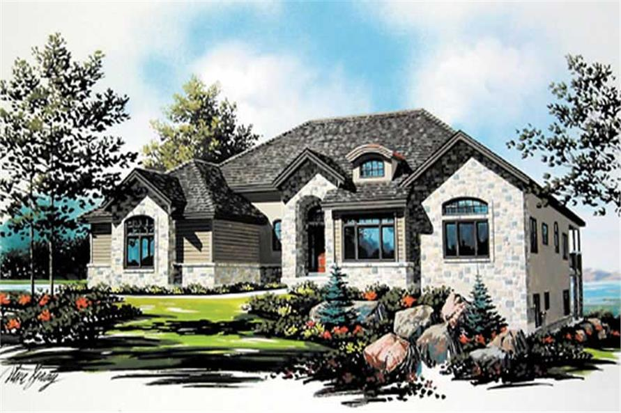 5-Bedroom, 2552 Sq Ft Country Home Plan - 135-1332 - Main Exterior