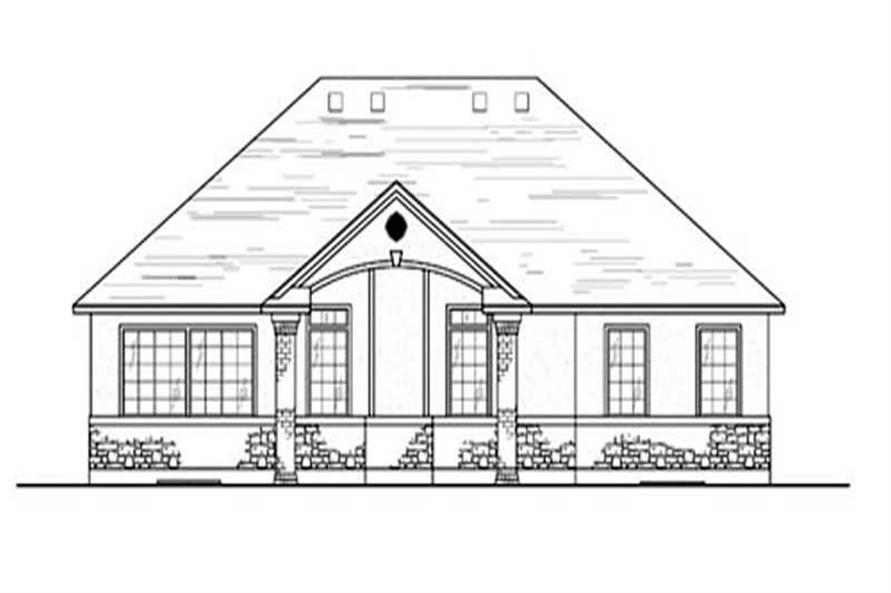 Home Plan Rear Elevation of this 3-Bedroom,1612 Sq Ft Plan -135-1333