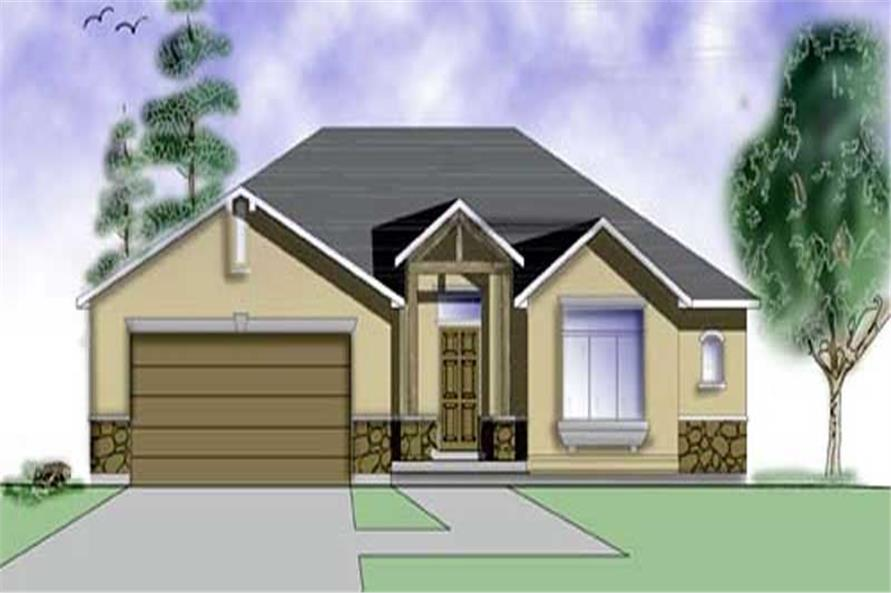 2-Bedroom, 1320 Sq Ft European Home Plan - 135-1336 - Main Exterior
