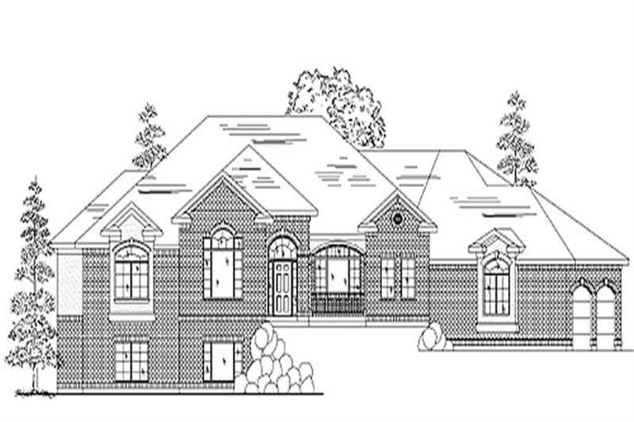 2-Bedroom, 2758 Sq Ft European House Plan - 135-1339 - Front Exterior