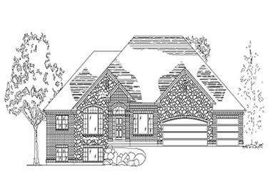 4-Bedroom, 2792 Sq Ft European House Plan - 135-1341 - Front Exterior