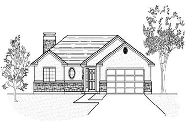 3-Bedroom, 1362 Sq Ft Country Home Plan - 135-1342 - Main Exterior